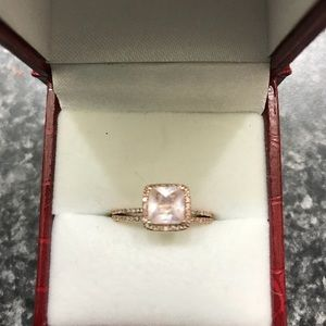 Jewelry - 10K Rose Gold, Morganite, & Diamond Ring Set
